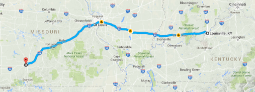 Day 1 driving route