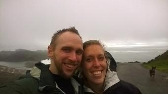 Wet day on Muir Beach trail