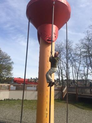 Matt playing acrobat!