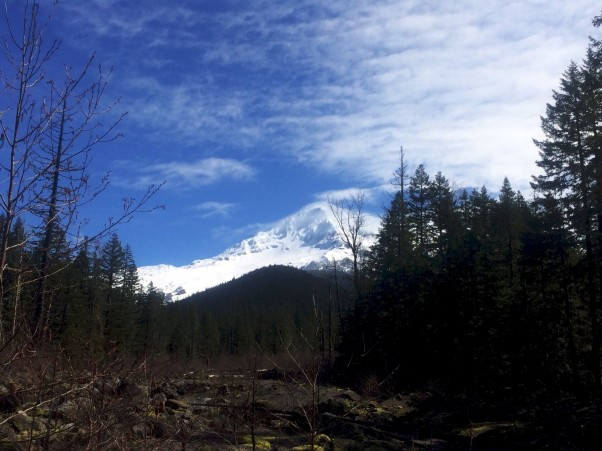 First look at Mount Hood- that looks _cold_!