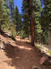 Hiking Mason Creek Trail at Staunton State Park