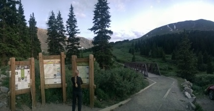Grays trailhead... The peak in the WAY back
