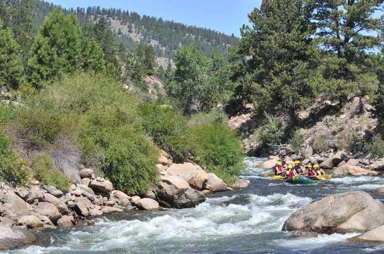 Rafting down the Arkansas River