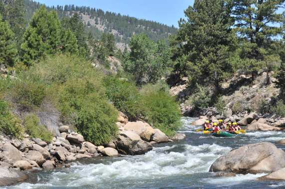 Rafting down the Arkansas River