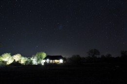 Billy's lodge at night