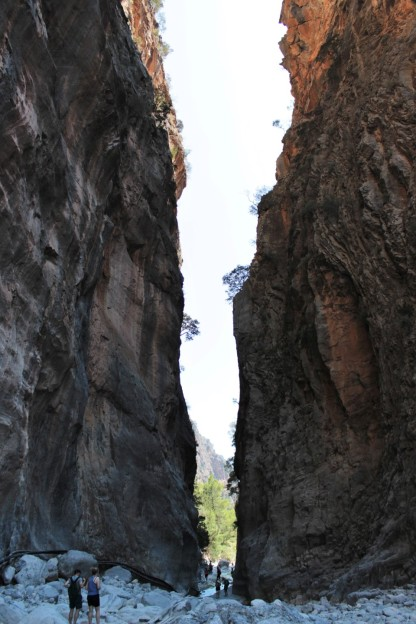Iron Gates in Samaria Gorge, Crete