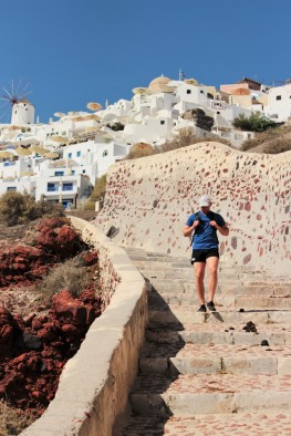 300 steps to get to the iconic bay in Santorini