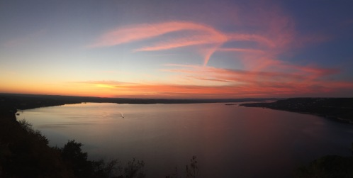 Lake Travis from the Oasis